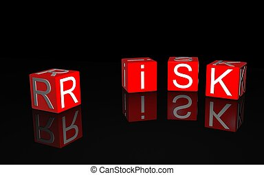 risk  - 3d illustration of risk