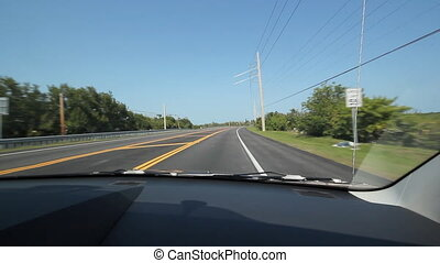 Driving in Florida. Highway. - Driving on a highway in the...