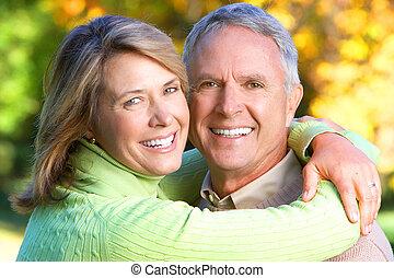 anciano, seniors, pareja