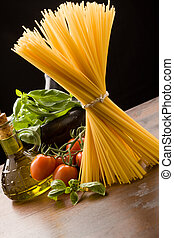 Ingredients for Italian pasta - photo of different...