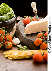 Ingredients for pasta with tomato s