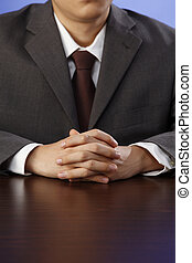 impatient - stock image of the man waiting