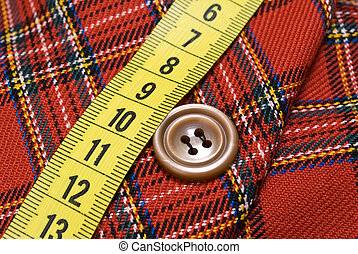 Needle and sewing button
