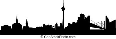 Citizen of Duesseldorf abstract - Duesseldorf Silhouette...