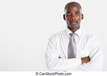 african american businessman over white studio portrait