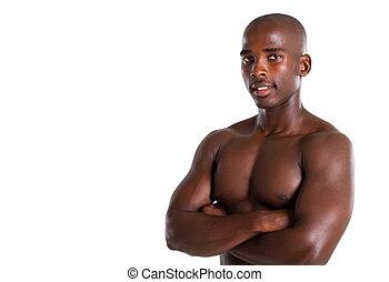studio portrait of african man