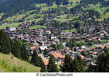 Grisons, Switzerland - Klosters - Swiss town located in...