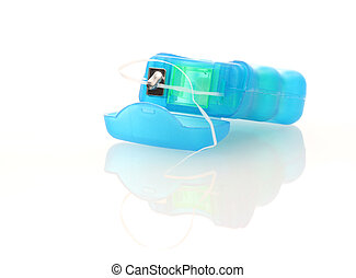 Dental Floss on white background