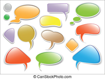 Glossy multicolored vector talk bub