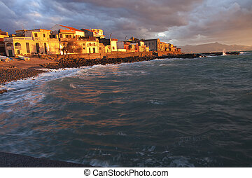 Fishing village in Sicily - Italian fishing village at...