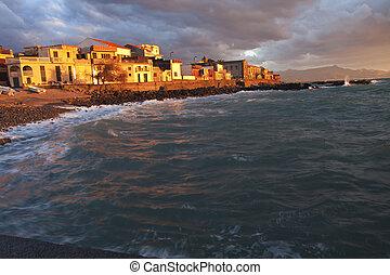 Fishing village in Sicily - Italian fishing village at...