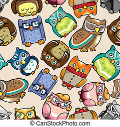 seamless owl pattern  - seamless owl pattern