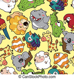 seamless animal pattern  - seamless animal pattern
