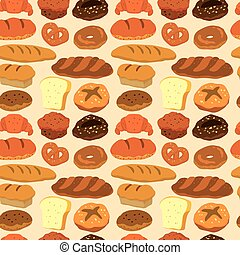 seamless bread pattern  - seamless bread pattern