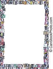newspaper border - Newspaper cutout letters border