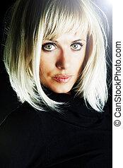 blond sexy beautiful woman
