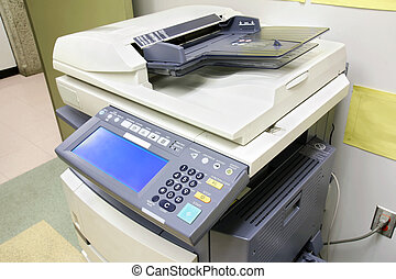 Office copier - Modern photocopier with digital display...