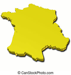 map france 3d gold