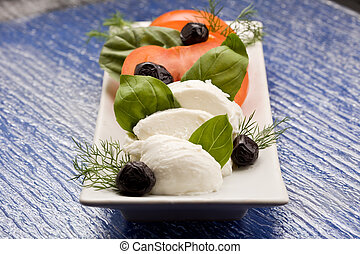 Tomato Mozzarella Salad - photo of delicious tomato and...
