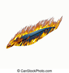 feather on fire