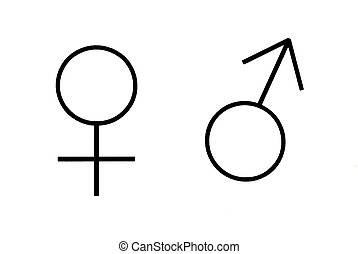 Sex symbols - Male and female sex symbols