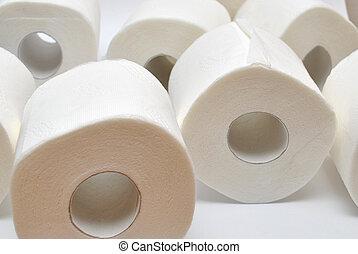 Banheiro, papel