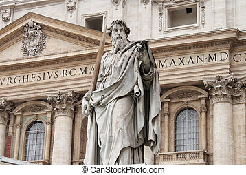 Saint Paul statue in Vatican city, Rome (Italy)