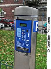 Parking meter in  the Europien city