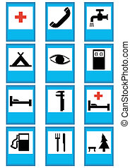 Traffic signs - Index traffic signs on a white background...
