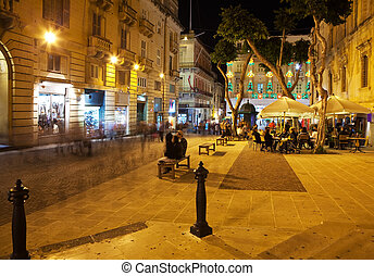 Nightly life in Valetta streets - Nightly life in Valetta...