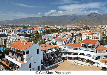 Costa Adeje resort. Tenerife island, Canaries