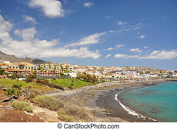 Luxury hotels at Torviscas Playa Tenerife island, canaries