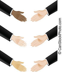 Business hand shaking - Business hand shaking. Illustration...