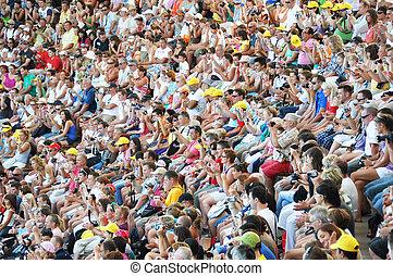 LORO PARQUE, TENERIFE, SPAIN - AUGUST 28, 2010: Public...