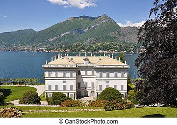 Villa Melzi in Bellagio town at the famous Italian lake Como...