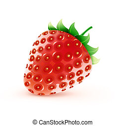 sweet strawberry - illustration of cool fresh ripe sweet...
