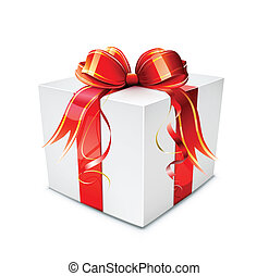 gift box - Vector illustration of cool gift box on the white...