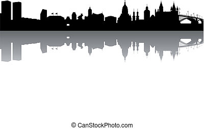 Mainz Skyline abstract