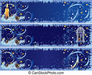 Christmas banners - set of the Christmas banners