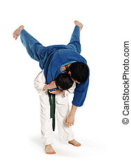 Judo fighting competition