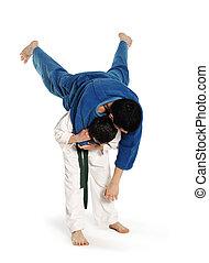 Judo, lucha, competición