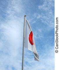 Japanese flag - The national Japanese flag of Japan JP
