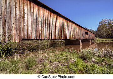 Watson Mill Covered Bridge - An historic covered bridge at...