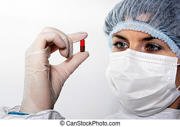 red pill in his hand the doctor