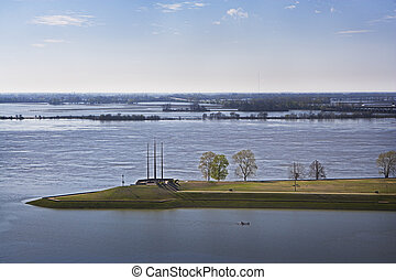 Flooded Mississippi River - The Mississippi River flooded...