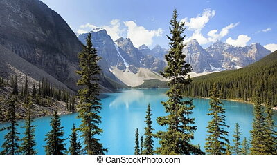 Moraine Lake, Time Lapse - Banff National Park, Canada,...