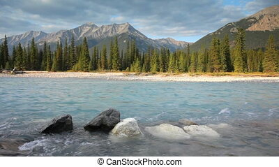 Kootenay River - Canadian Rockies and Kootenay river,...