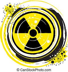 radioactive.eps - waves of radiation in the radioactive...