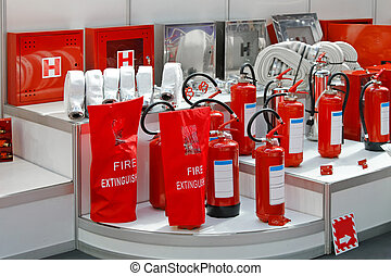 Fire extinguishers - Fire hoses hydrants and extinguishers...