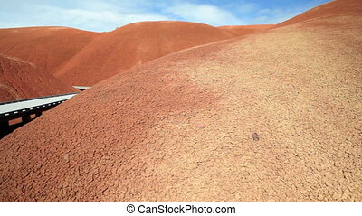 Painted Hills Trail - Raised trail through Painted Hills,...